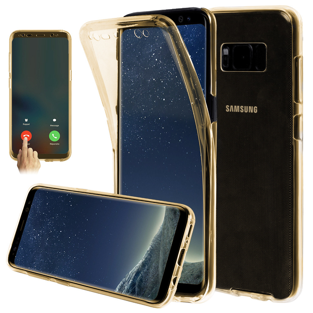 tpu 360 degree case for samsung galaxy s8 full body cover, soft protective cover for galaxy s8