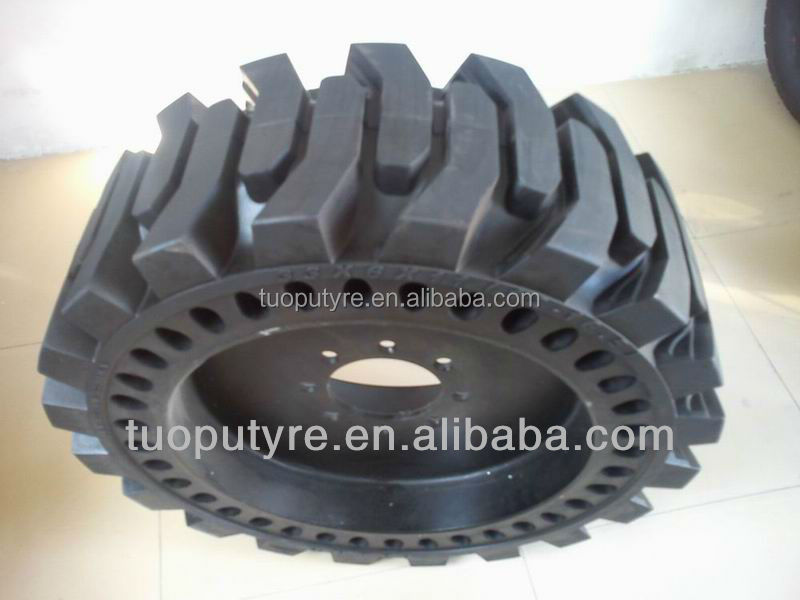 10-16.5 12-16.5 mould on solid tire | skidsteer tire, bobcat tire