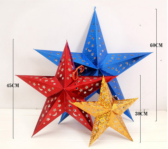 3d paper stars instructions