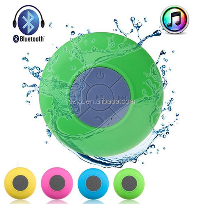 Factory wholesale Mini Water Resistant Wireless Shower Speaker WaterProof Bluetooth 3.0 Speaker with Suction Cup