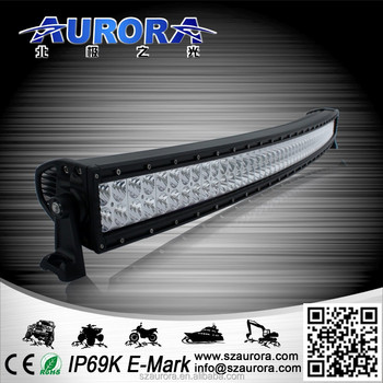 AURORA high quality IP69K 50inch 500W dual row curved led light bar