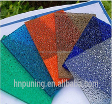 sun protection sheet for house hard polycarbonate plastic Embossed greenhouse sheet