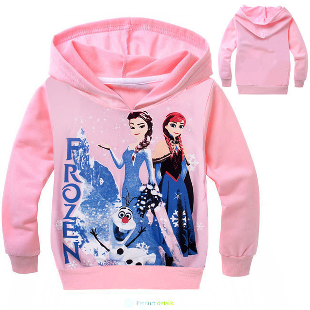 Wholesale Pullover Custom Frozen Elsa Anna Olaf Hoodies Girls Hoody