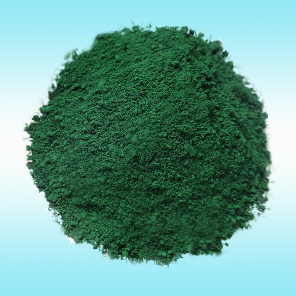 factory dyes concrete pigment iron oxide green