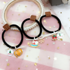 Custom wholesale alloy metal hair accessories elastic black hair ties kids ponytail holders for Christmas