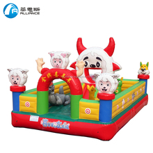 kids inflatable toy champion sheep inflatable bounce castle