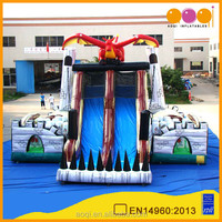2015 AOQI new design unique dinosaur style inflatable slide for commercial