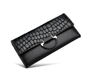 Vintage Style Designer Fancy PU Leather Long Ladies Wallet with Change Purse
