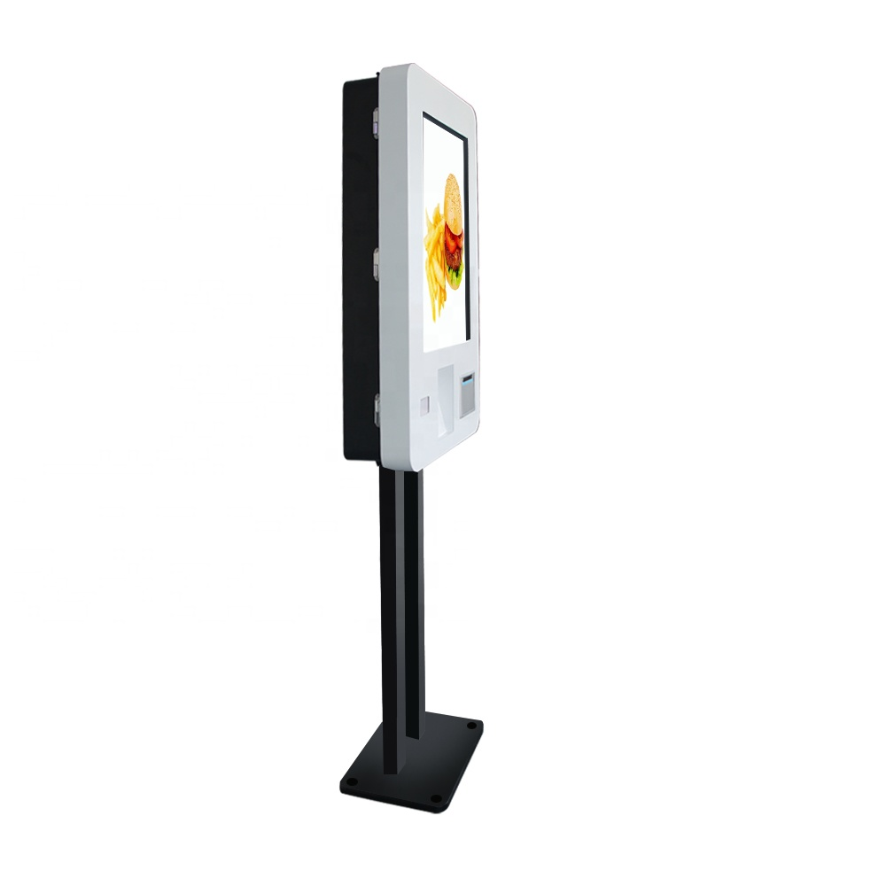 27 Inch Free Standing Restaurant Self Service Order Kiosk Android Bill <strong>Payment</strong> Kiosk with Printer