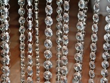 HOT SALE 5pcs 14mm New Acrylic Crystal Garland Strand Chain Hanging Diamond Bead Decor Wedding