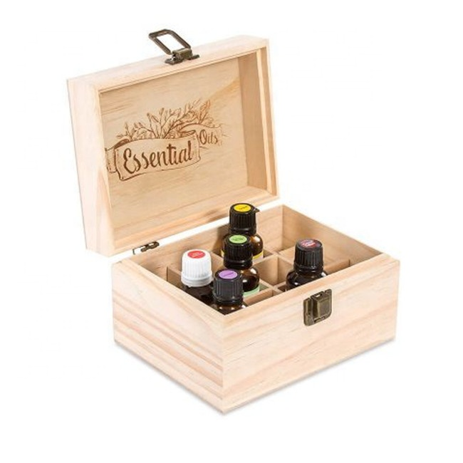 wooden gift box packaging essential oil box bamboo