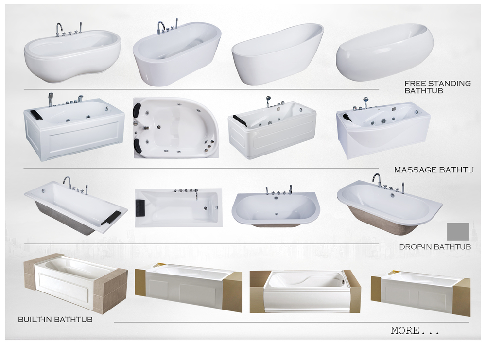 High Quality Cheap CUPC drop in acrylic bathtub, plastic bathtub for adult