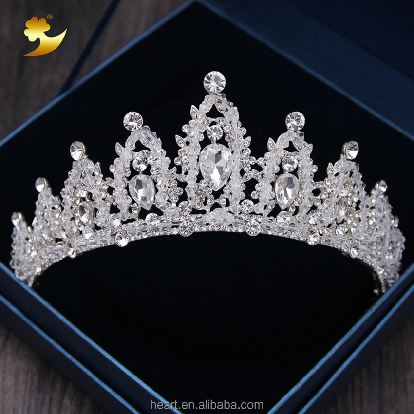Wedding Tiara Crystal Birthday Tiara Miss World <strong>Crown</strong>