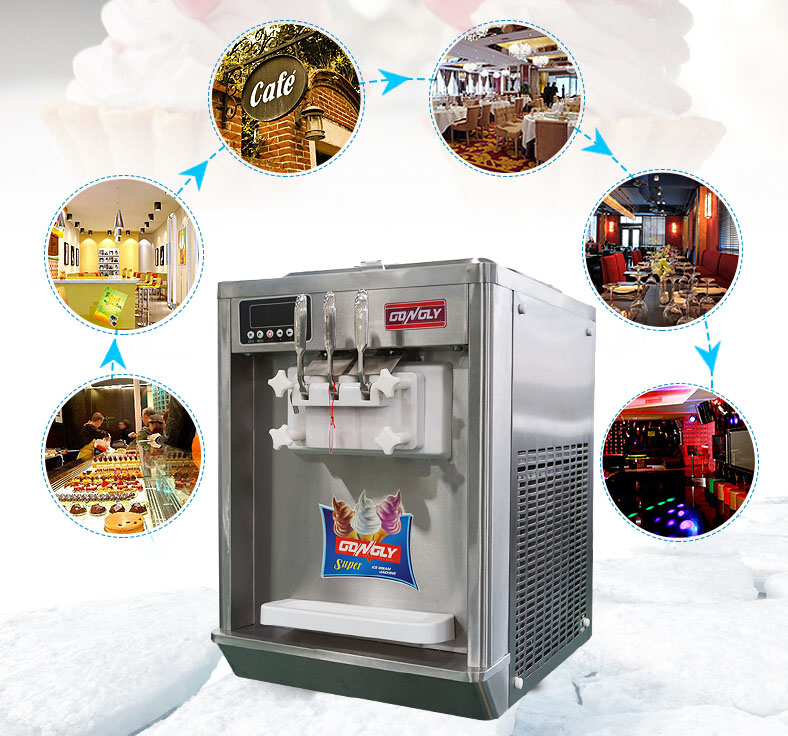2017 Cheap Price Frozen Milk Yogurt Twin+Twist Flavors Taylor Softy Ice Cream Machine
