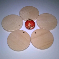 Natural wood unfinished round wood disc round wood coins