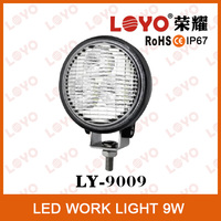 Hot sale New product Round LED work lamp Car accessories 9W LED auto lamp off-road LED working light