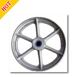 OEM Customized Sand Heavy Duty Cast Iron Cart Wheel