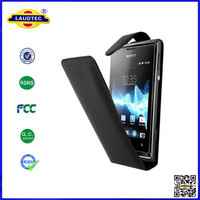 PU Flip Leather Case for Sony Xperia E1 Dual leather case cover accessories