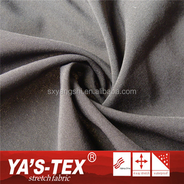 Keqiao Plain Weave Microfiber Polyester Recycled Yarn Stretch Fabric For Sports Wear