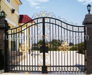 new design handforged wrought iron grill gate with high quality