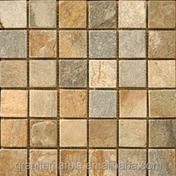 Natural slate mosaic tile for marble countertop and vanity tops with low price