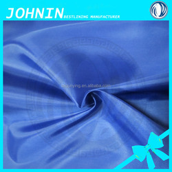 china supplier 100% Polyster plain dyed taffeta fabric woven lining fabric