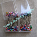 Packed 50pins Multipurpose Plastic Pearlized Head Pins