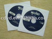 12cm cd-rom in white paper sleeve package