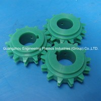 Top quality high performance customized double spur gear plastic nylon66 pinion gear