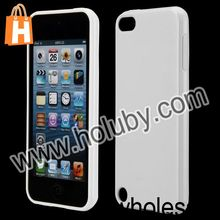 Lustrous Pure Color Flexible Soft TPU Back Cover Case for iPod Touch 5
