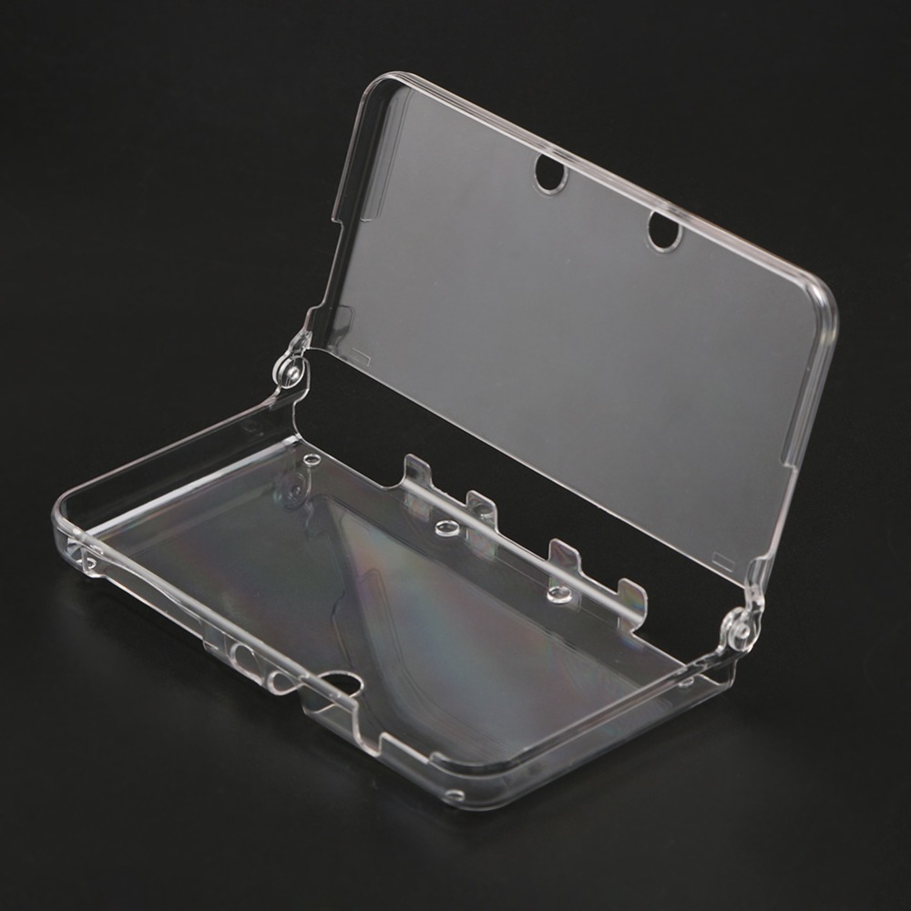 1pcs Hard Transparent Plastic Crystal Case Clear Skin Cover Protective Shell For Nintendo New 3DS With Film For Nintend