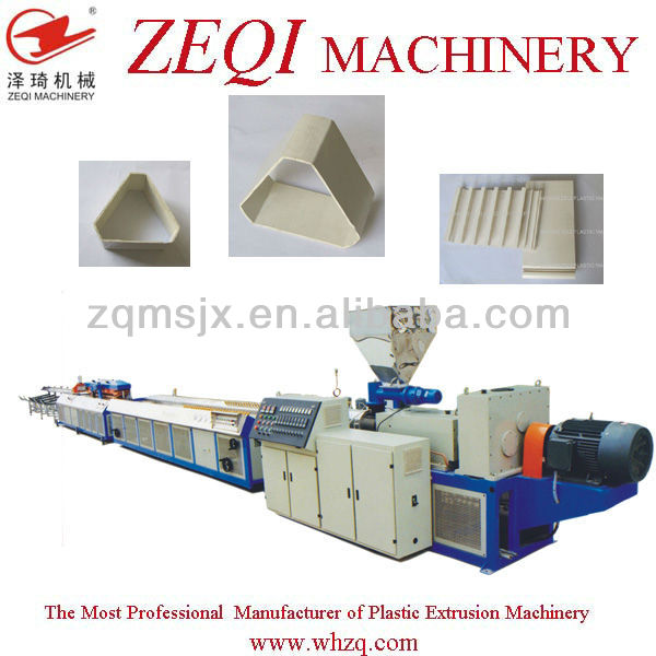 Manufacturer PVC plastic profile production machies with price