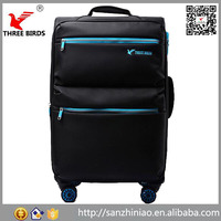 China product wholesale hot sale four spinner nylon travel hotel luggage trolley