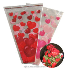 big transparent custom print plastic Bopp flower sleeves
