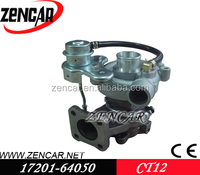 12 month warranty 17201-64050 turbo CT12 turbocharger for toyota