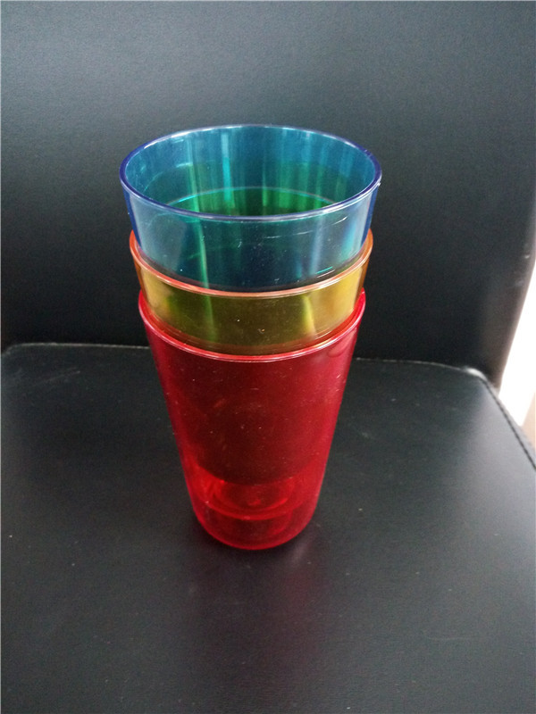 acrylic/ps colorful cup without handle