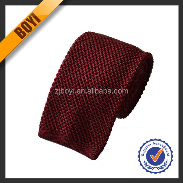Solid Color Fashion 100% Silk Knitted Ties