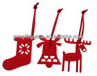 2016 Mix New Fashion Crafts Party Outdoor Christmas Tree Hanging Ornaments Decoration Felt Stock Bell Deer