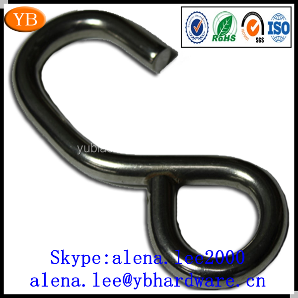 Direct factory zinc plated/coating black s hooks,closed s hooks ISO9001:2008