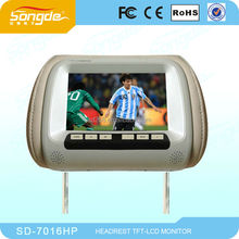 Advertising Body Sensor SD Display 7`` widescreen car headrest monitor