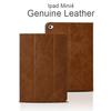 2016 New Design 7.9 Inch Handmade Luxury Oil Waxy Genuine Leather Case for Ipad Mini