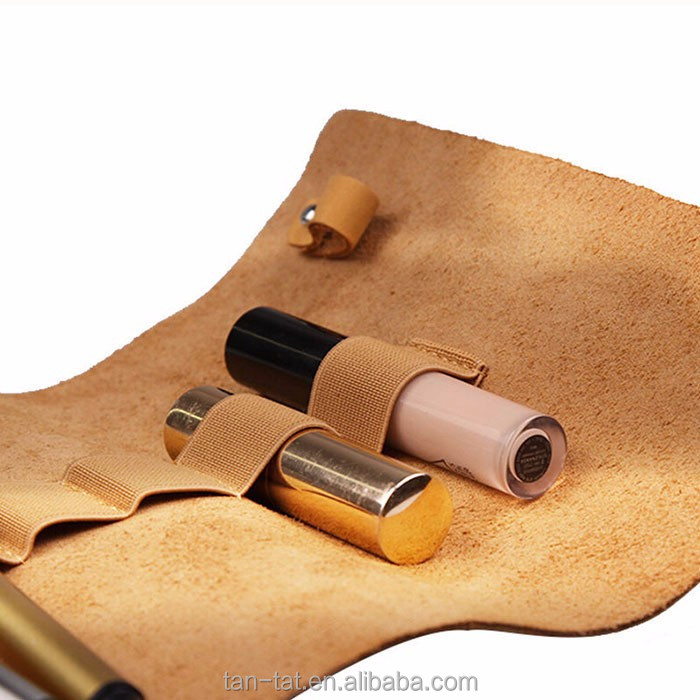 Genuine Leather Cosmetic Bag Custom Makeup Bag