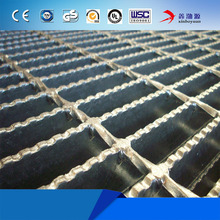 Hot dipped galvanized metal bar grating serrated metal grating / grating steel