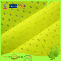 bright yellow knit power net mesh fabric for bags boxes