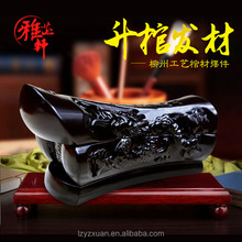 2017 Hot Selling Workmanship Wood Handicrafts Miniature Coffin Statue Ornaments for Fortune Items