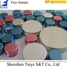 Different size colorful aluminum cap mental lid for package