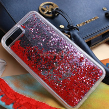SUNTC flowing quicksand liquid phone case for lg k10 glitter mobile case for samsung