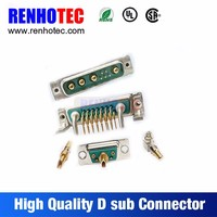 PCB Gold MCX Female to D-sub 5 Pin Female DB D sub Connector