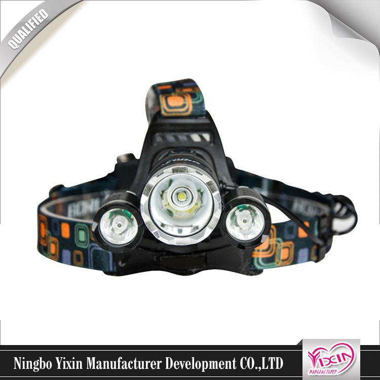 Factory Custom Made 3*AAA Battery Included ABS 8 led caving headlamp