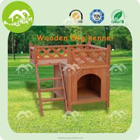 Wooden dog kennel with balcony, prefab pet house for sale,Other Pet Supplies
